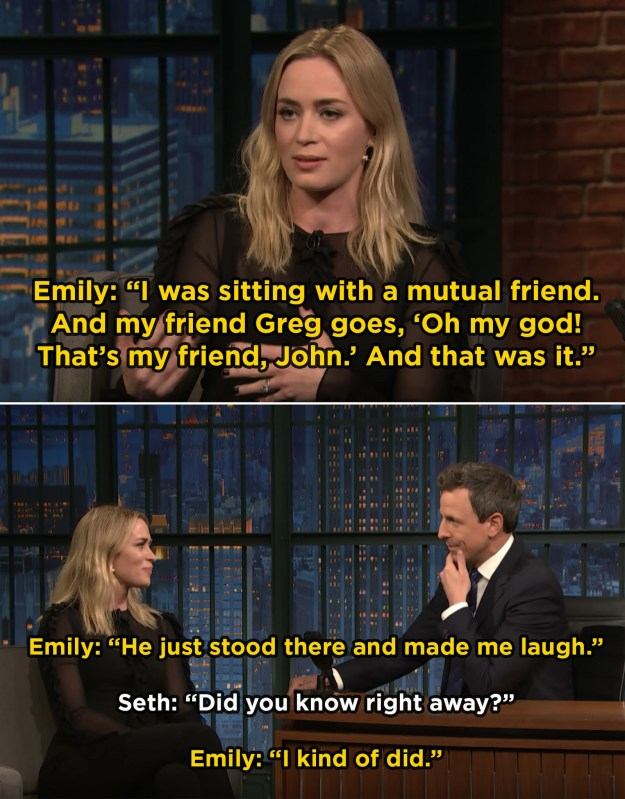 When Emily Blunt said that meeting John Krasinski was basically love at first sight: