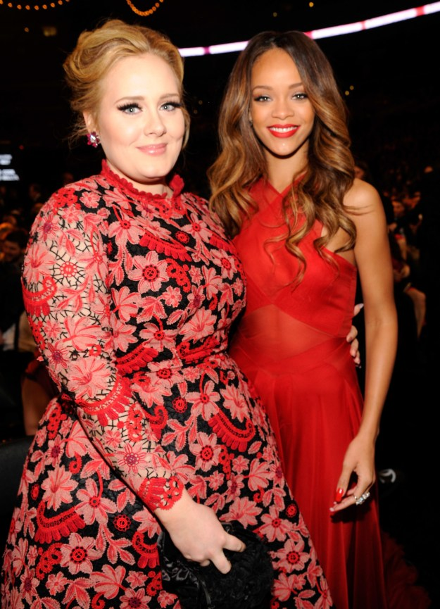 """In the letter, Adele described Rihanna's rise to superstardom as """"steady, well deserved and extremely natural"""", admitting that she couldn't remember the first time they actually met because she was """"probably numb from the shock of it""""."""