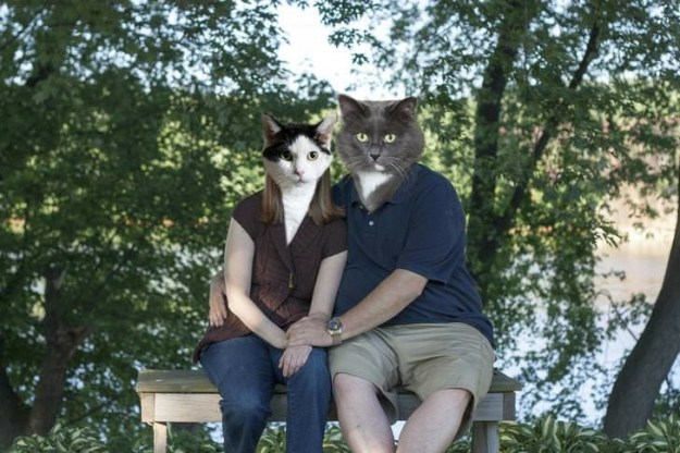 This couple whose engagement gift from their petsitter/photographer was this.