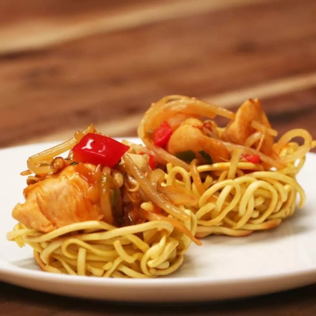 Chicken chow mein nests you'll want to manufacture over and over again.