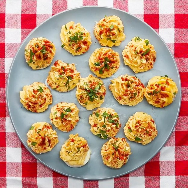 Muffin tin deviled eggs so you can create everyone's favorite way to eat eggs without total that peeling.