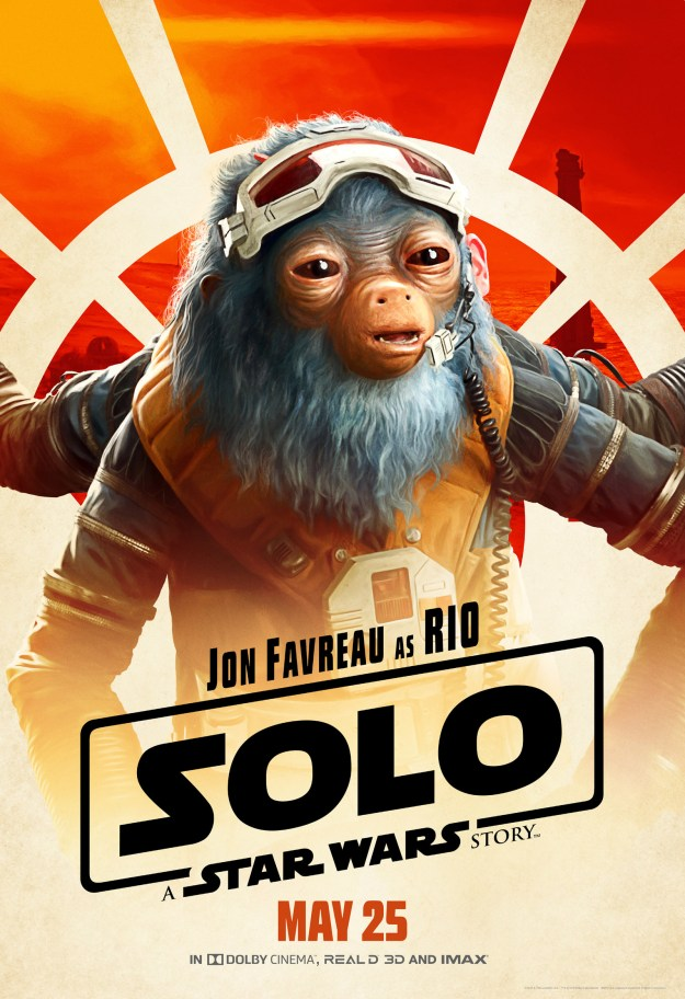 Then there's Rio (voiced by Jon Favreau), who we don't know too much about yet, but he's clearly fuzzy and blue and seems like a capable driver.