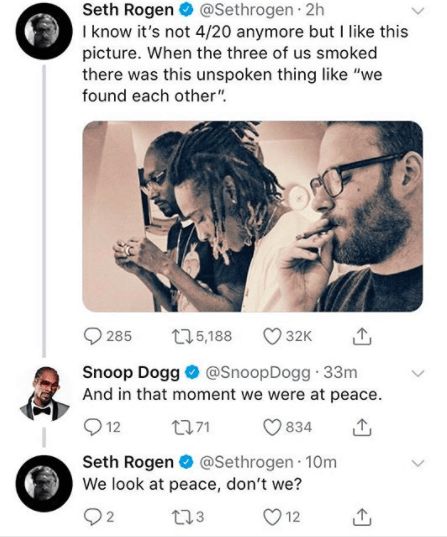 Seth Rogen posted this 4/20 pic: