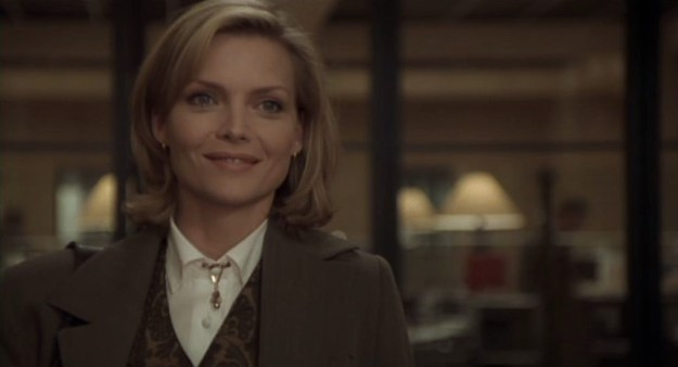 Anywho, it's not news that Michelle Pfeiffer is flawless and stunning and amazing and perfect. But there's something about her in One Fine Day that only upon reflection and lots of therapy has made me realize that that's the moment I knew I was gay.