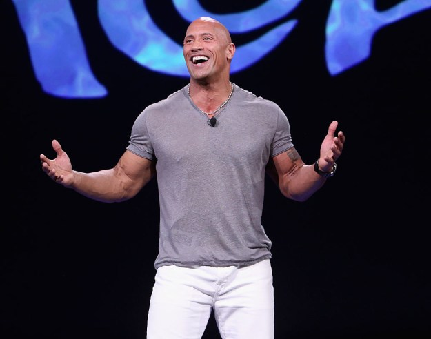 "Hi. Hello there. Hey. I'm here to talk to you about your favorite Rock, Dwayne ""The Rock"" Johnson."