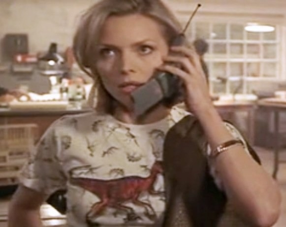 And that was when she spent half the movie in this tiny dinosaur shirt.