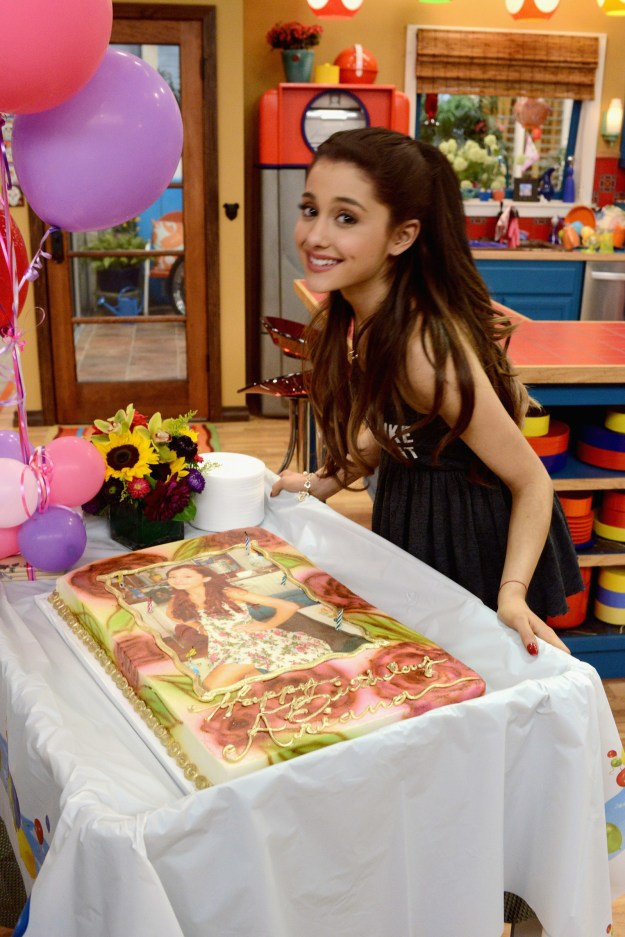 And finally, before she was snatching wigs, Ariana Grande was celebrating her birthday on the set of her Nickelodeon show.