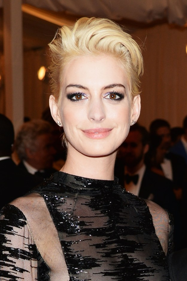 Anne Hathaway was...blonde.