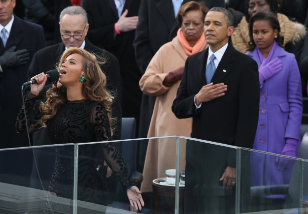 And Bey even performed for President Barack Obama's second swearing in.