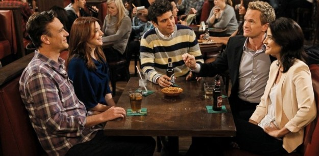 You've just started working as a waiter at MacLaren's Pub and tonight you're taking care of some regulars — Ted, Marshall, Lily, Robin, and Barney.