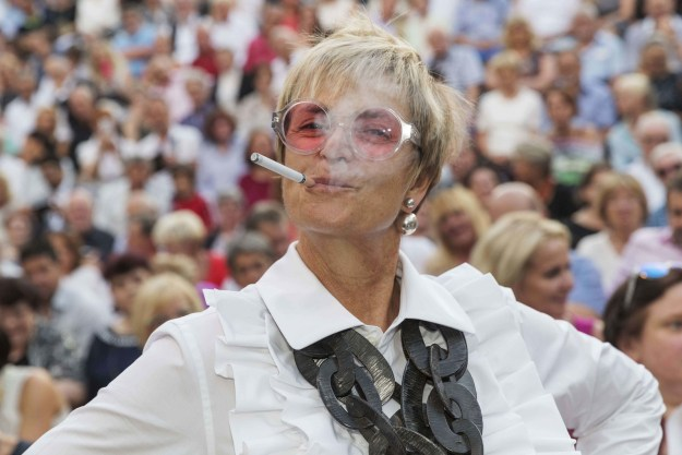 Believe it or not, Gloria, Princess of Thurn and Taxis, vapes.