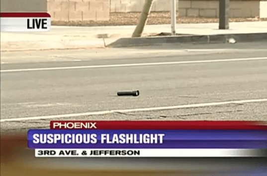 A literal flashlight: