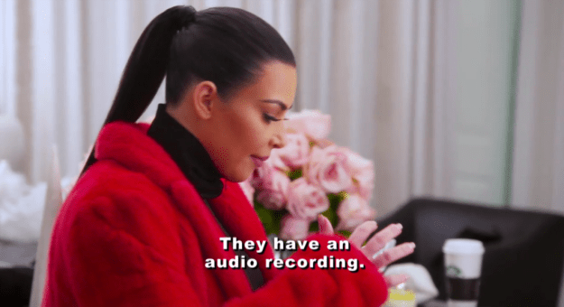 Well, as soon as Kanye's publicist got wind that the audio existed and was about to be released, she got straight on the phone to Kim.