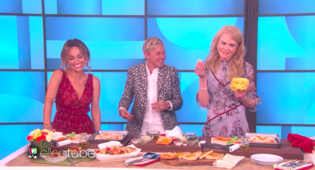 "When she told Giada De Laurentiis that her pizza was ""a little tough"" on Ellen — after Giada had called her ""the woman who can't cook."""