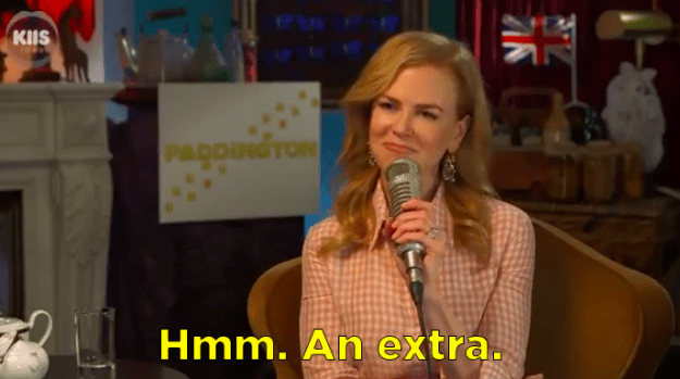 And finally, when she had this delightfully shady response when an interviewer asked who he'd play in a movie.