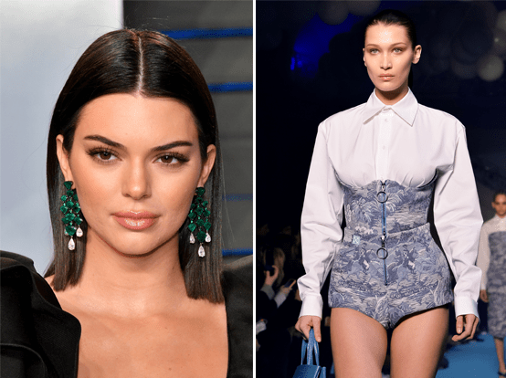 Let's get right into it. On Monday, a fan account posted a side-by-side picture of Kendall Jenner and Bella Hadid. It looked like this: