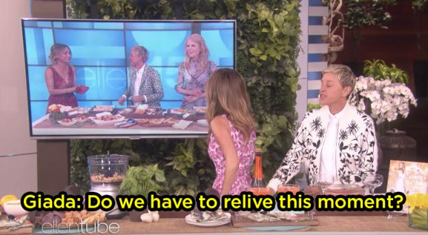 Ellen even made her rewatch the moment: