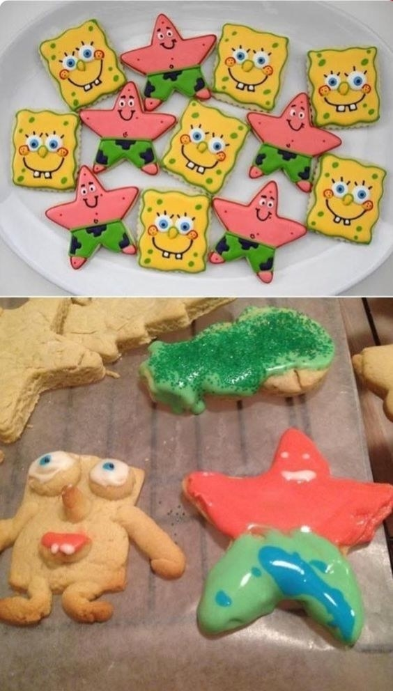 These heartbreaking Spongebob-Patrick cookies: