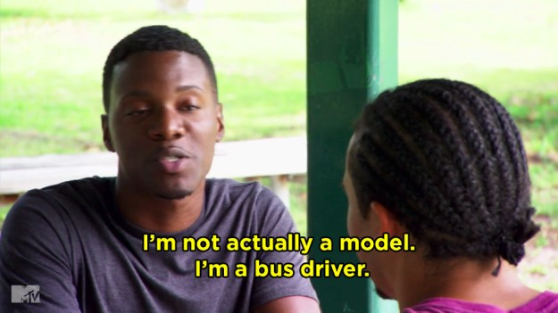 When Ja'mari admitted he had a criminal past that included stealing three buses, impersonating the drivers, and driving their routes. (???)