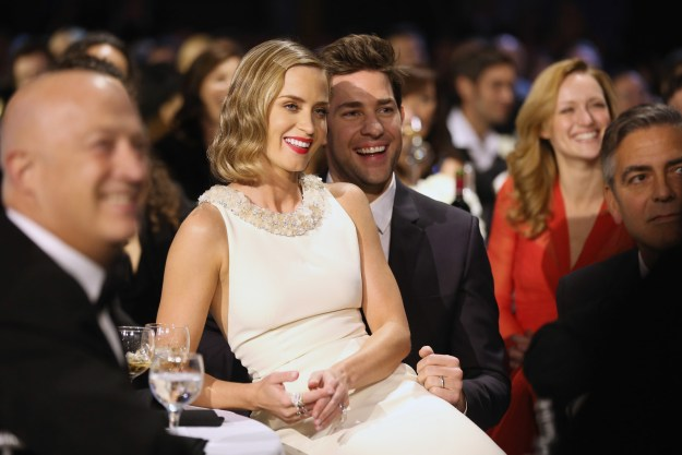I don't want to make this a competition but if we're looking at cute couples, Emily Blunt and John Krasinski are leaders of the race.