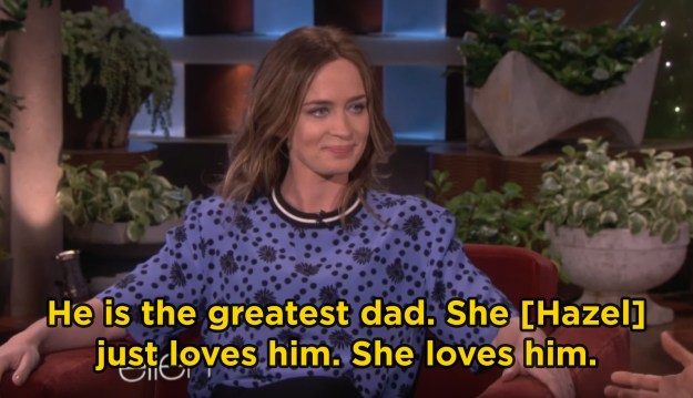 When Emily gushed about how amazing John is at being a dad: