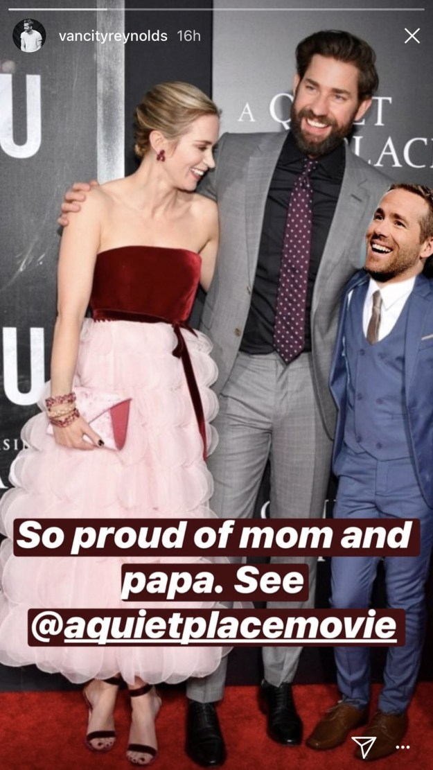 And he even posted a beautiful family photo of himself and his new parents on his Instagram story.