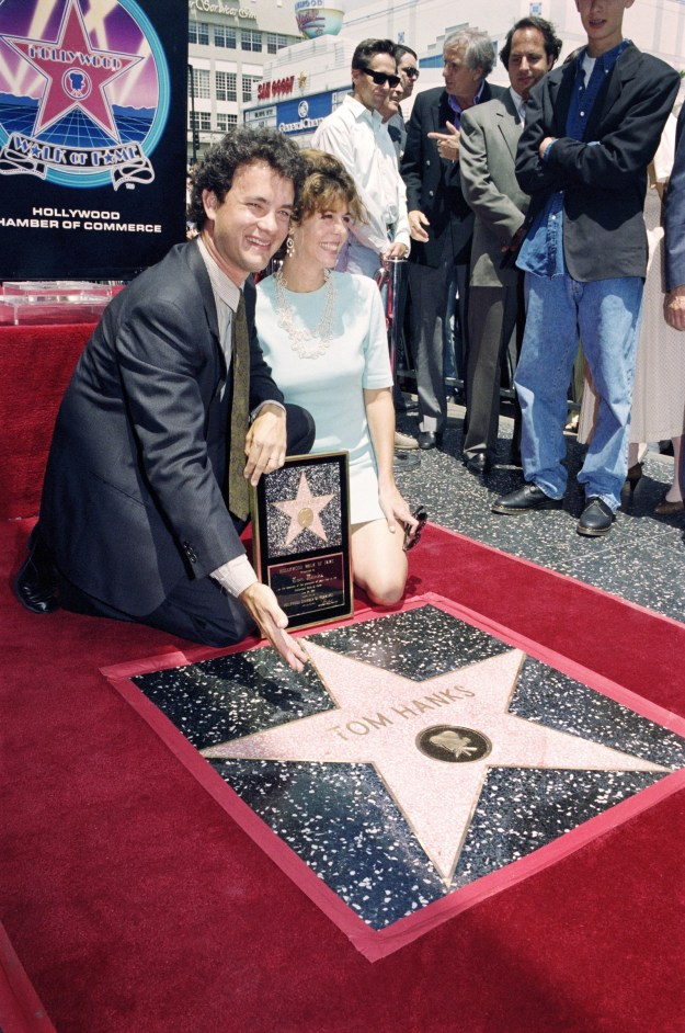 1992: When they were side-by-side as Tom got his star on the Hollywood Walk of Fame.
