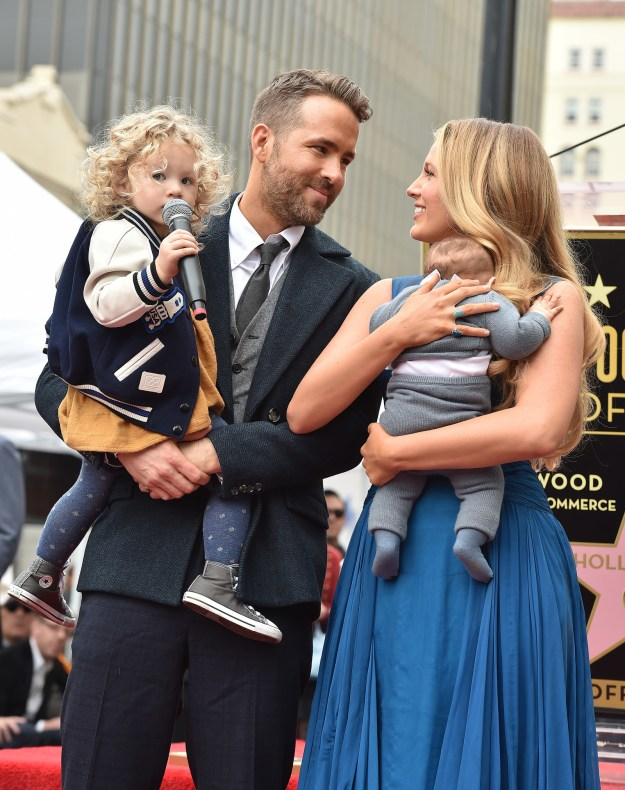 But what you might not have noticed is the little hidden message she had for Ryan Reynolds and their two daughters, Ines and James.