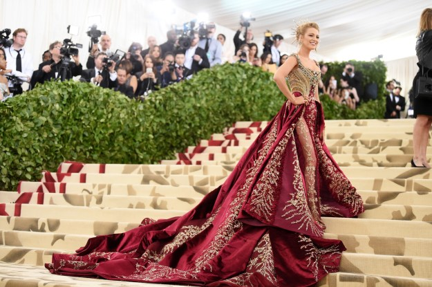 I'm going to pretend that you haven't seen pictures of Blake Lively at the Met Gala just so I can show you them myself.
