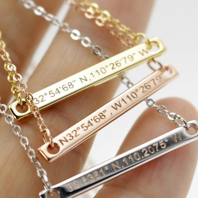 "All you need to do is enter your coordinates when placing your order! Promising review: ""My best friend was going to the state championship for our school so I got her this and engraved it with her catchphrase and it was perfect! She loved it and it's really durable! She plays with it on everyday and it's still in perfect condition!"" —DabneyGet it from Amazon for $18.98 (available in three colors)."