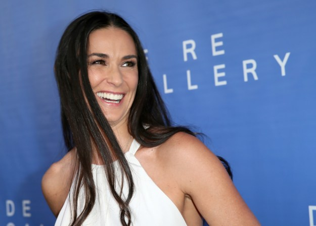 Demi Moore worked at a debt-collection agency.