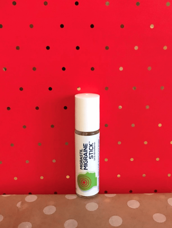 Migrastil migraine stick from Amazon. Had the WORST migraines for the first and second trimester and this is the only thing that gave me any relief. It's an essential oils mix of peppermint, spearmint, and lavender, so it also helps with the nausea a bit. —noellel479e10a61Get it on Amazon for $10.99. (Again, YMMV.)