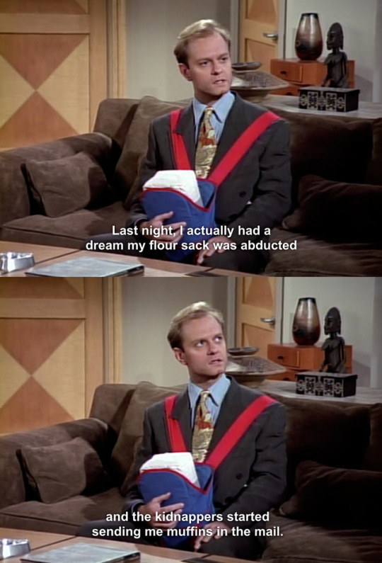 When Niles was anxious about looking after his