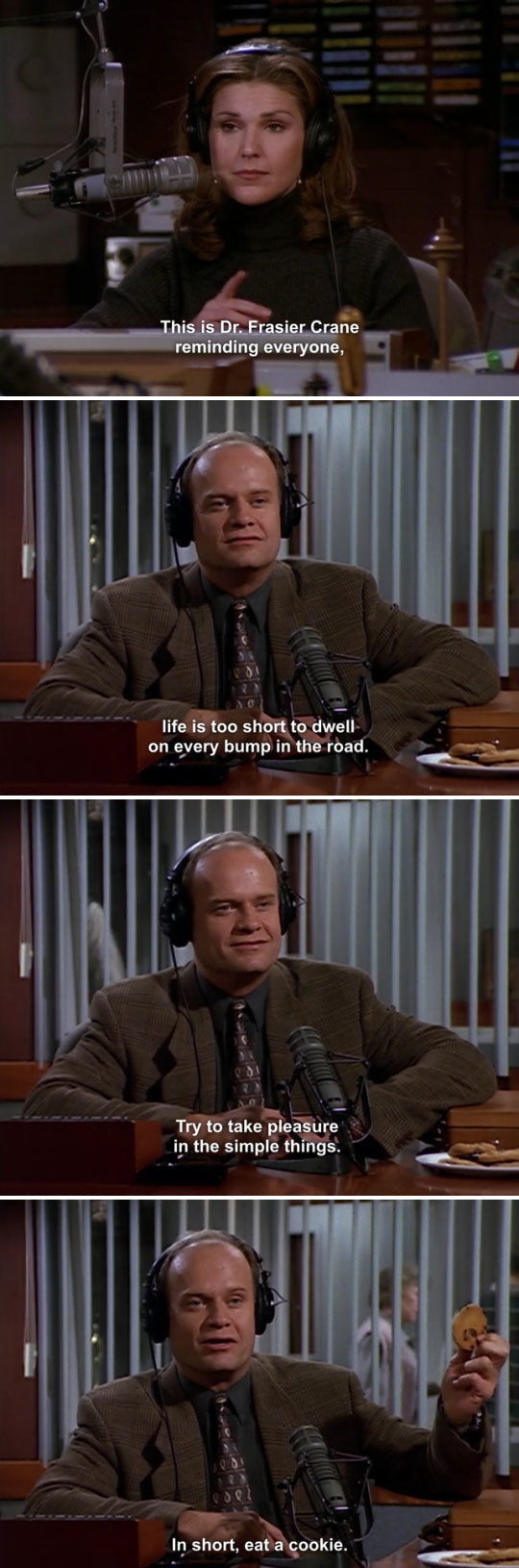 When Frasier gave his listeners some simple — but useful — advice.
