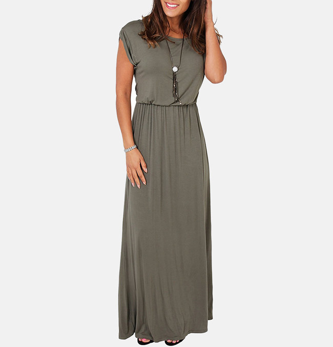"""Promising review: """"I love the dress. Its very comfy, soft, lightweight, and fresh. It's perfect for Texas heat. I weigh 150lbs and I'm 5'2"""". I bought this in a size medium, and it fits perfectly. The color is also awesome!"""" —Miriam C. Moreno  Price: $6.99 (available in sizes 14-16 and 11 colors)"""