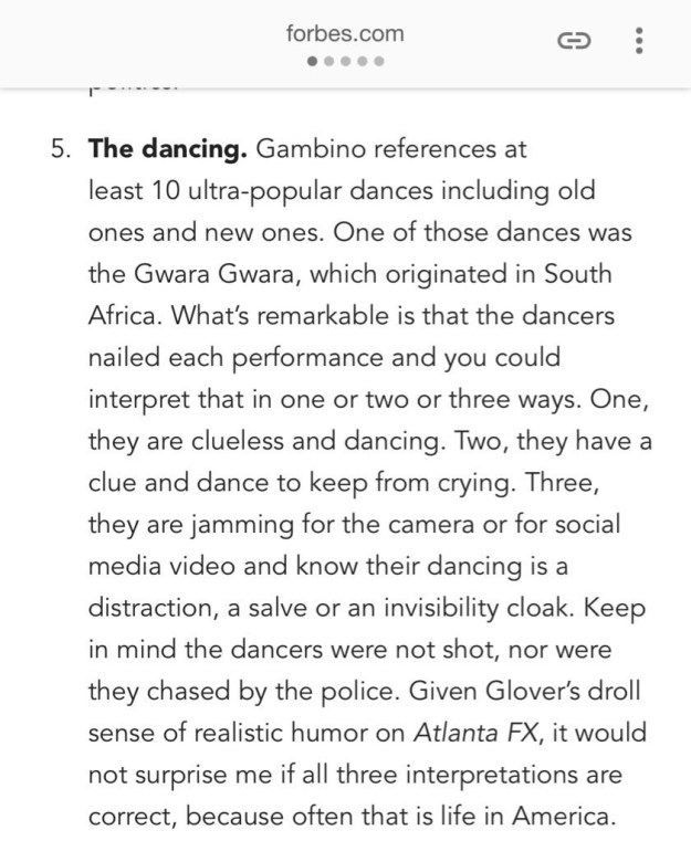 Here's what Forbes noticed about the dancing: