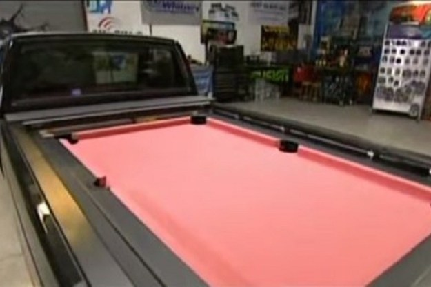 When someone got a pool table installed in their car on Pimp My Ride.