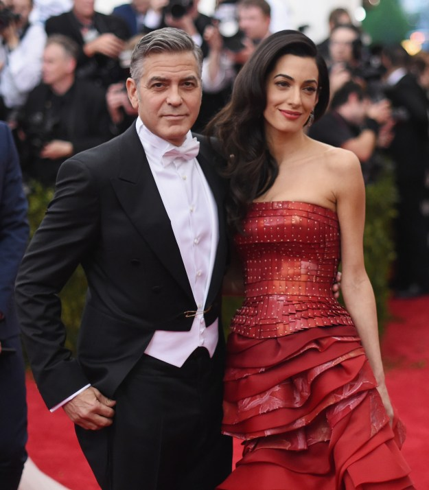 Now, onto one of my favorite part of the Met Gala — staring at the beautiful couples. I am shook just remembering this 2015 George and Amal Clooney appearance...