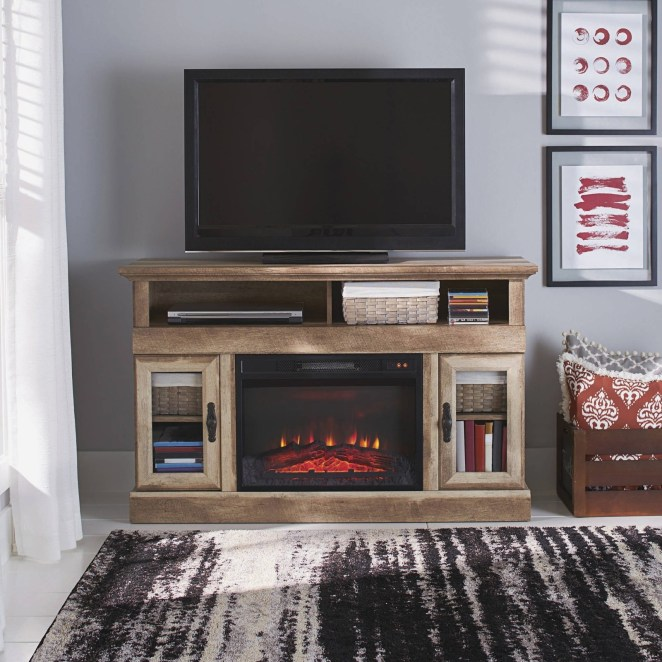 "Promising review: ""We love our media center. The fireplace insert adds just enough heat to take the chill off our family room. There was plenty of room for our DVD player and game system. We were impressed with the quality look, details, and weight of this center."" —CampersRusPrice: $249 (originally $279)"