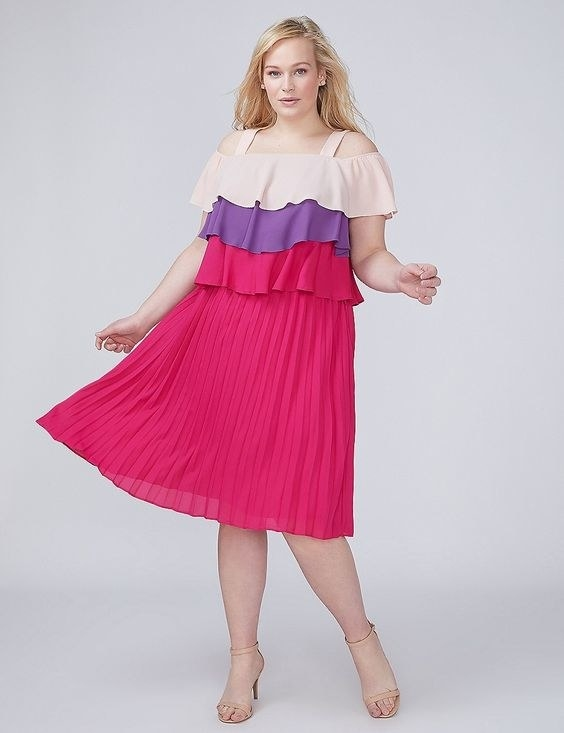 """Promising review: """"I absolutely love my new dress! The colors are beautiful."""" —linda212Get it from Lane Bryant for $41.29 (originally $58.99; available in sizes 14-28)."""