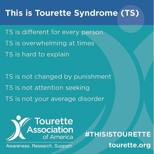 OK, so some medications and behavioral therapy treatments HAVE allowed some individuals to successfully manage their tics. But for the most part physical and vocal tics associated with Tourette Syndrome are involuntary (like a sneeze) or uncontrollable.