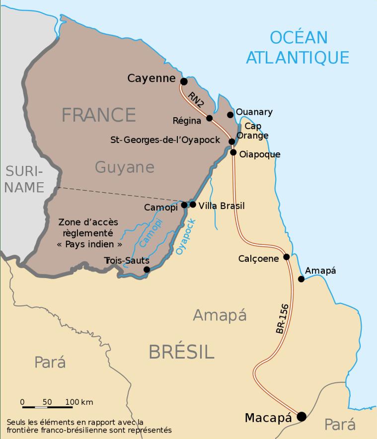 A Guiana Francesa é um território ultramarino da França na América do Sul e fica ao norte do Brasil, fazendo fronteira com o Amapá. Uma curiosidade sobre a Guiana, é que mesmo sendo parte da América do Sul, disputa competições na CONCACAF, da América do Norte. Ou seja, pode ser que haja festa da Copa na América do Sul.