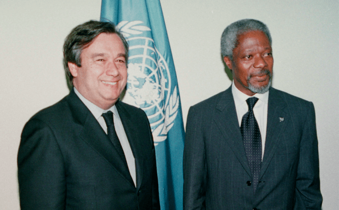 """He wrote: """"Kofi Annan was a guiding force for good. It is with profound sadness that I learned of his passing. In many ways, Kofi Annan was the United Nations. He rose through the ranks to lead the organization into the new millennium with matchless dignity and determination.  """"Like so many, I was proud to call Kofi Annan a good friend and mentor. I was deeply honoured by his trust in selecting me to serve as UN High Commissioner for Refugees under his leadership. He remained someone I could always turn to for counsel and wisdom — and I know I was not alone. He provided people everywhere with a space for dialogue, a place for problem-solving and a path to a better world. In these turbulent and trying times, he never stopped working to give life to the values of the United Nations Charter. His legacy will remain a true inspiration for all of us. """"My heartfelt condolences to Nane Annan, their beloved family, and all who mourn the loss of this proud son of Africa who became a global champion for peace and all humanity."""""""