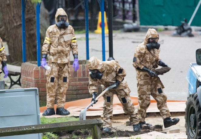 The poisoning for Sergei Skripal and his daughter Yulia sent members of the military to the Maltings shopping area in Salisbury searching for the source of the nerve agent they'd come in contact with.