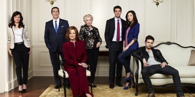 """A comedy-drama series about a former First Lady who is also Secretary Of State.""""The cast is stellar, including a young and gorgeous Sebastian Stan. The storyline is heavily influenced by Hillary's run for office in '08."""" –michelleb107Watch it on: Amazon."""