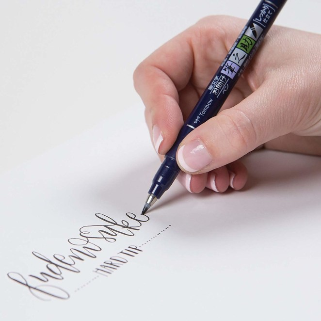 """Promising review: """"I recently got into brush calligraphy and heard this brand was the best, so I decided it was worth $5 to try them. OMG, they are fantastic! They're easy to use (if you can get the hang of going light on the upstroke and harder on the downstroke), write well, and I honestly don't know how you can do better than this. Everything about this purchase was absolutely worth it."""" —Rachel McVayPrice: $5 (also available in a three pack, and five packs with specified brush softness)"""
