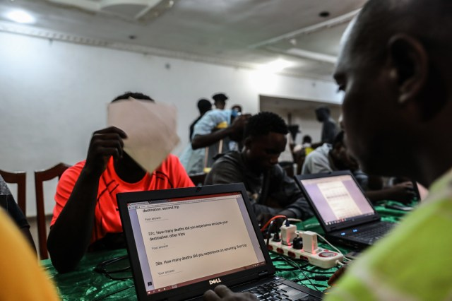 People who have returned from Libya are registered by the Edo state government.