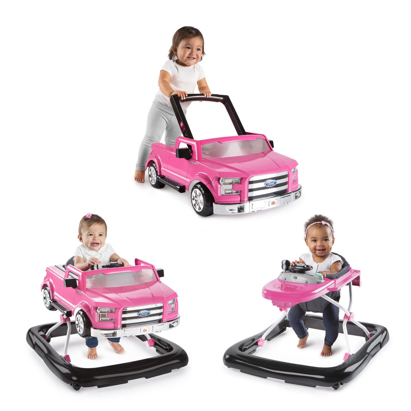 """Promising review: """"This walker should definitely be on your list! It was easy to set up and my little one loved taking it for a 'test drive' right away! Its features are great, with three different height levels and multi-functional use. It's great to put her down and watch her be easily entertained. I highly recommend this product!"""" —Nunez92Price: + (available in three colors)"""