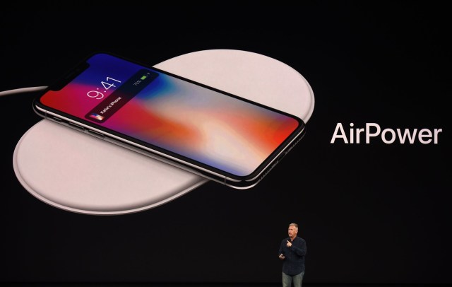 Apple's senior vice president of worldwide marketing, Philip Schiller, introduced AirPower, a wireless charging system, during a media event in September 2017.