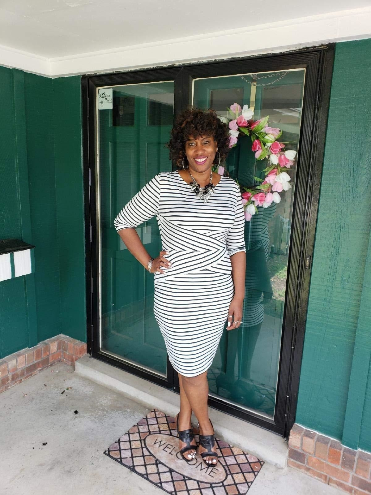 """Promising review: """"I usually don't leave reviews on Amazon but I love this dress so I had to add my thoughts. The dress is soft and stretchy. It looks just like the picture, which means it is super flattering. In addition to being flattering, it is very comfortable. It feels like you are wearing sweatpants but you look professional and put together."""" —all226Get it from Amazon for .99+ (available in sizes S–XXL and 21 colors)."""